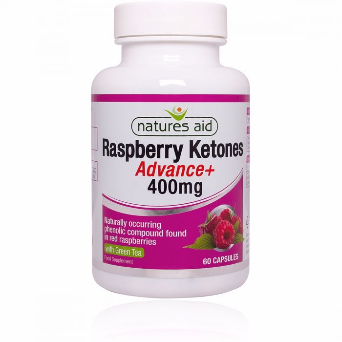 Natures Aid Raspberry Ketones Advance + with Green Tea 60 Capsules