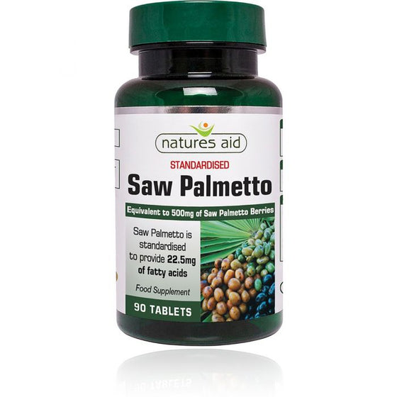 Natures Aid Saw Palmetto - 90 Tablet