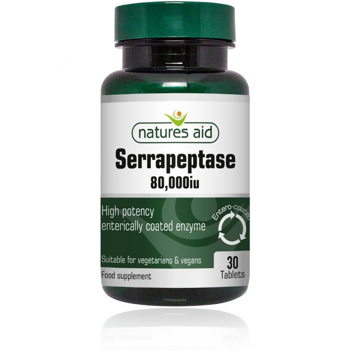Natures Aid Serrapeptase 80,000iu (Entero-Coated)