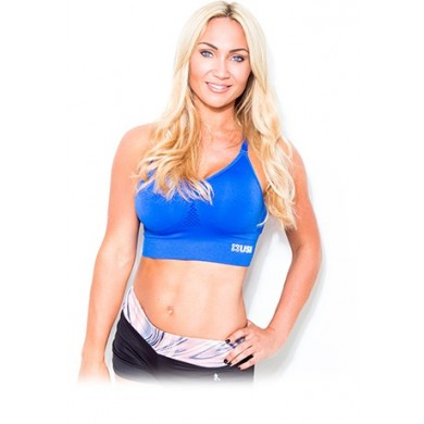 USN WOMEN'S SPORTS BRA - BLUE