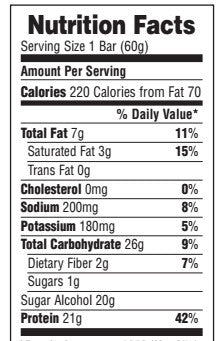 Natures Plus Keto Bar High Protein Bar - Box of 12