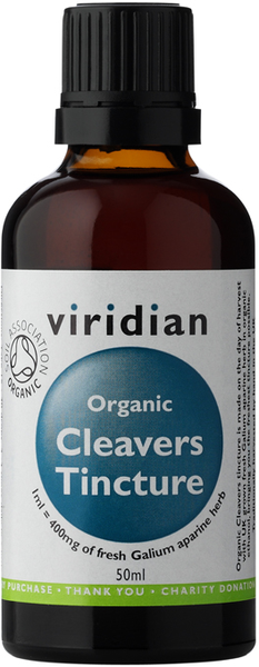 Viridian Organic Cleavers tincture 50ml