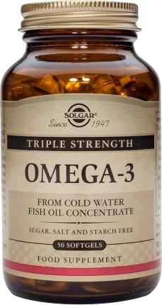 Solgar Triple Strength Omega-3 softgels