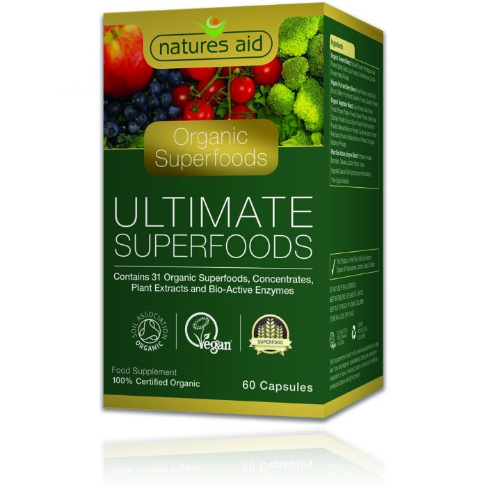 Natures Aid Ultimate Superfoods (Organic)- 60 Capsules