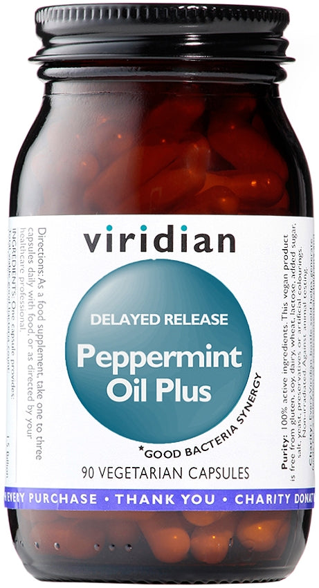 Viridian Peppermint Oil Plus (Delayed Release Caps) 90 Capsules