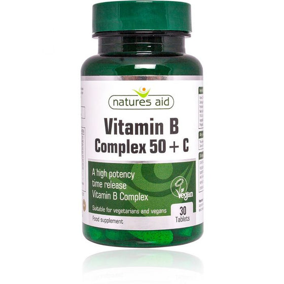 Natures Aid Vitamin B Complex 50 with Vitamin C