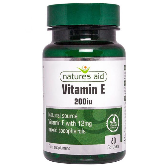 Vitamin E 200iu Natural Form - 60 softgels