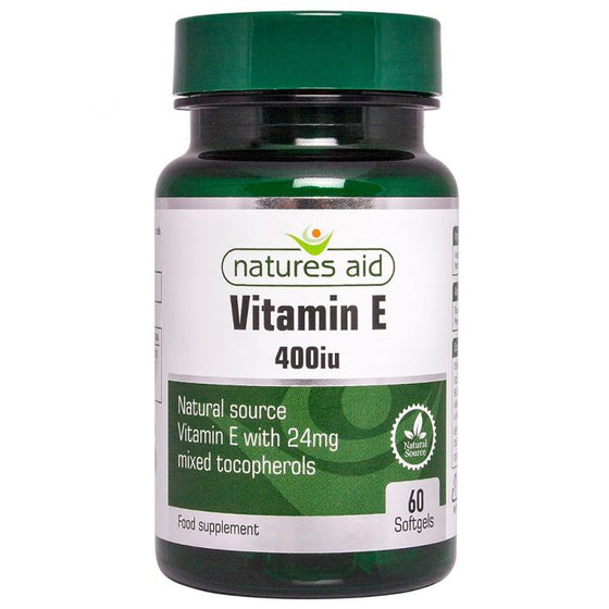 Vitamin E 400iu Natural Form - 60 Capsules