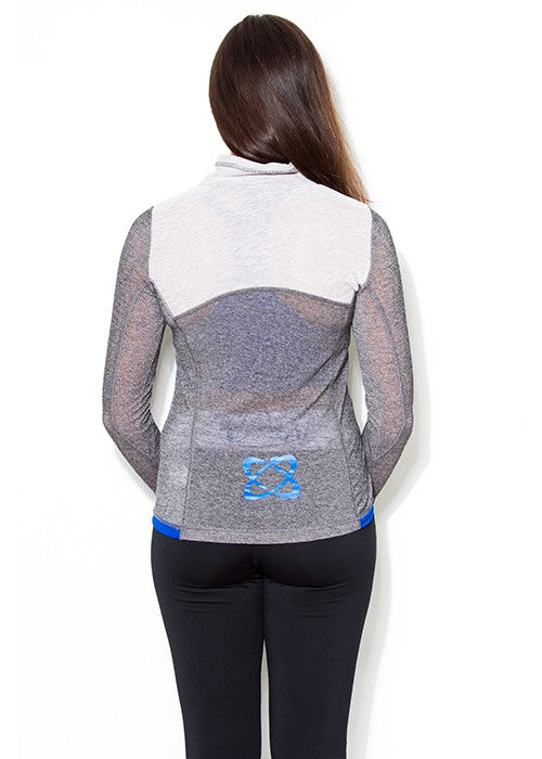 USN Women's Zip Training Top - Grey