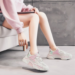 Bubble Bump Pink Color Model Look on Your Feet