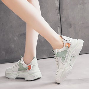Bubble Bump Green Color Model Look on Your Feet
