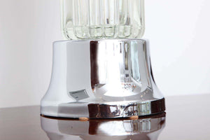 Art Deco Tall Table Lamp with Glass Elements