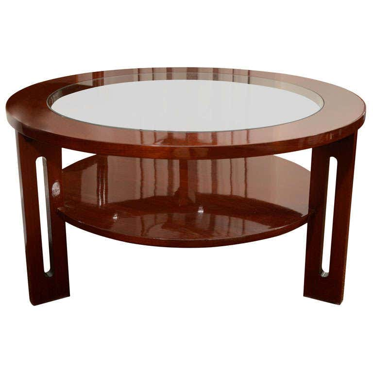 Round Mid-Century American Cocktail Table