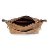 Large Expandable Waxed Canvas Dopp Kit with Multiple Compartments