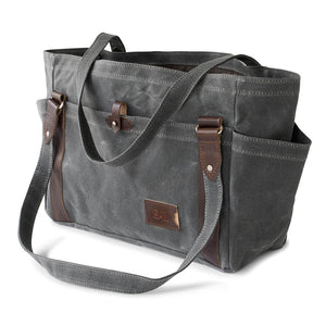 Large Waxed Canvas Carryall Tote Bag