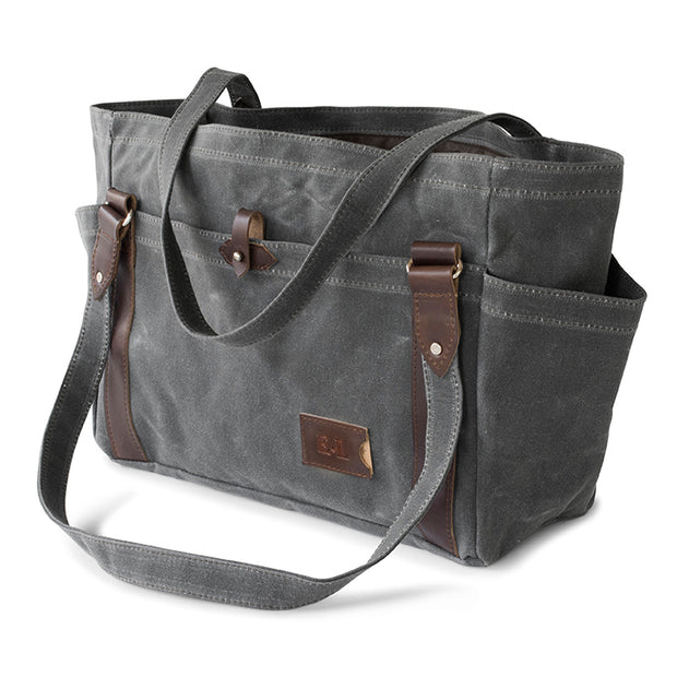 Large Waxed Canvas Carryall Tote Bag 1