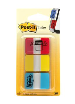 Märkflik Post-it Index Strong röd gul blå 25,4x38mm