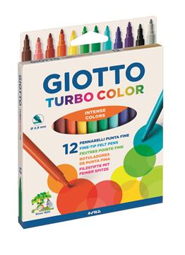 Fiberpenna Giotto Turbo Color 12-pack 12 färger