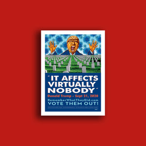 "It Affects Virtually Nobody Poster 18"" x 24"""