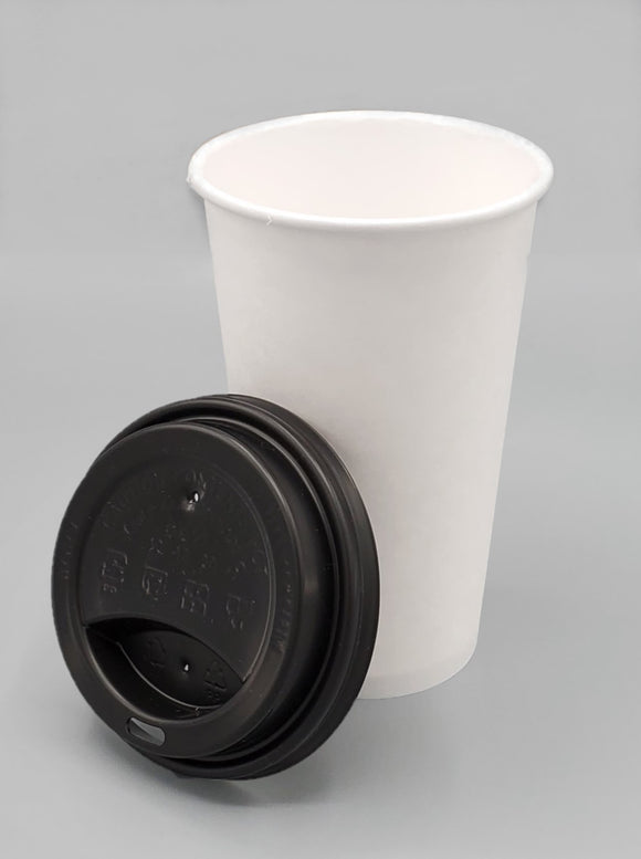12-16oz COFFEE CUP SIP HOLE LID BLACK 1000/Case