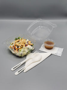 "KPT Clear Hinged PET Plastic 6"" Container 400/Case"