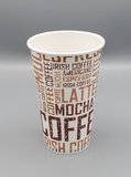 16oz COFFEE PAPER CUP PRINTED 1000/Case