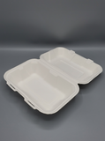 9'' x 6'' Compostable Bagasse Hinged Container (200/Case)