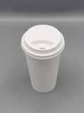 12-16oz COFFEE CUP SIP HOLE LID WHITE 1000/Case