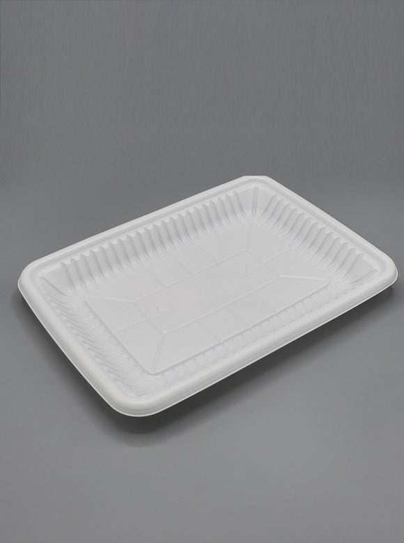 8P PP White Tray - 400/case