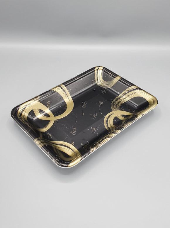 4D Black & Gold Foam Tray 400/Case