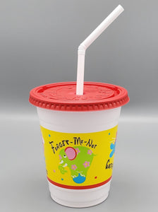 12-14oz Plastic Kids' Cups with Lids and Straws combo pack 250/case