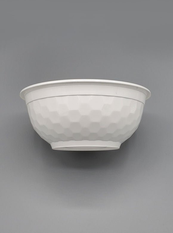 36oz White Diamond Cut Bowl & Lid Combo - 150/case