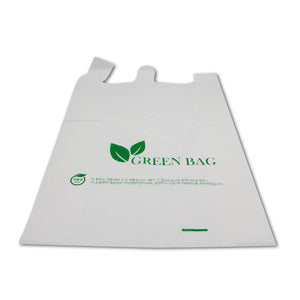 "X-Large 14"" X 7"" X 24"" Biodegradable Shopping Bag - 800/Case"