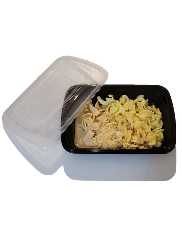 28oz. Black Rectangle Deli Container w/Lid - 150/Case