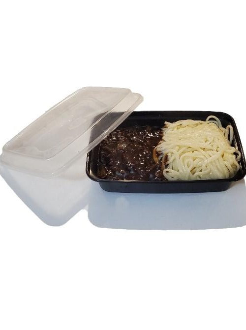 16oz. Black Rectangle Deli Container w/Lid - 150/Case