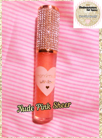 Nude Pink Sheer ~ Smoothie Flavored Glitter Lipgloss