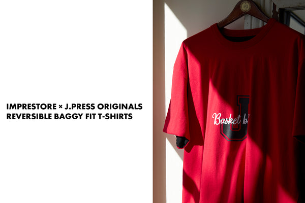 IMPRESTORE×J.PRESSORIGINALS, REVERSIBLE BAGGY FIT T-SHIRTS