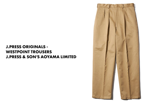 J.PRESS ORIGINALS - WESTPOINT TROUSERS