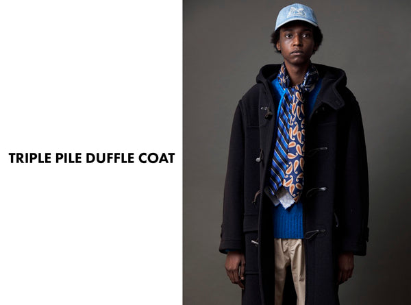 TRIPLE PILE DUFFLE COAT