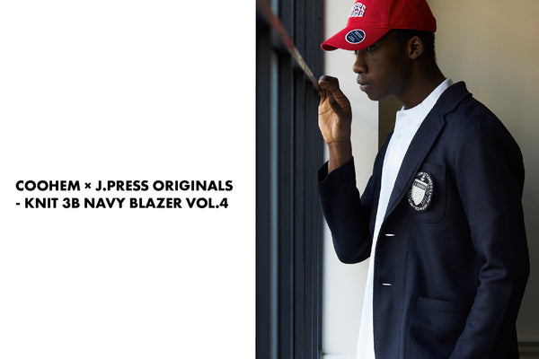 COOHEM × J.PRESS ORIGINALS - KNIT 3B NAVY BLAZER VOL.4