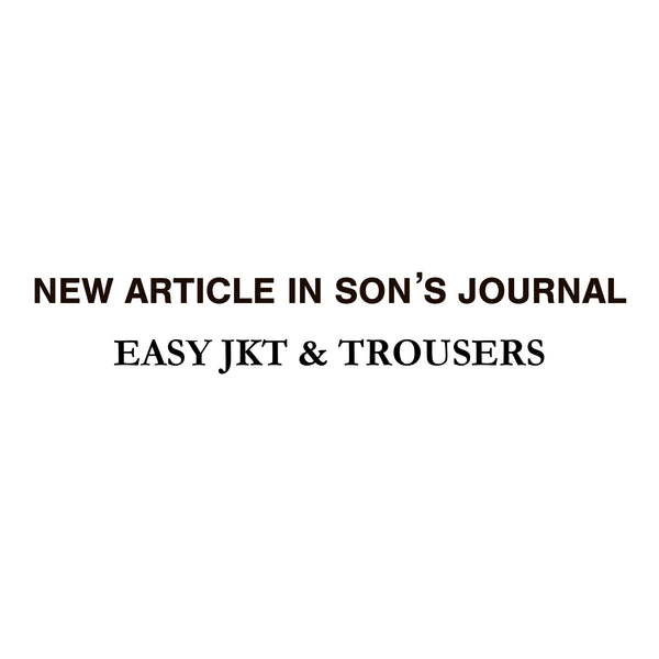 NEW ARTICLE IN SON'S JOURNAL