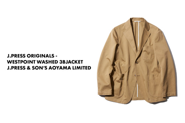 J.PRESS ORIGINALS - WESTPOINT WASHED 3B JACKET