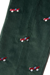 ROWING BLAZERS - HUNTER GREEN CORD BABAR CRITTER PANTS