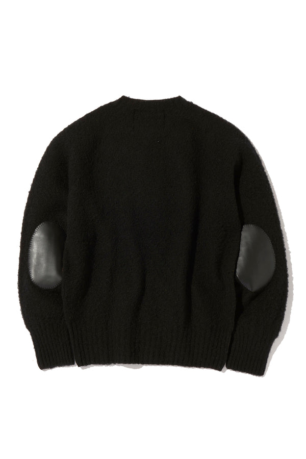SHAGGY DOG SWEATER with ELBOW PATCH