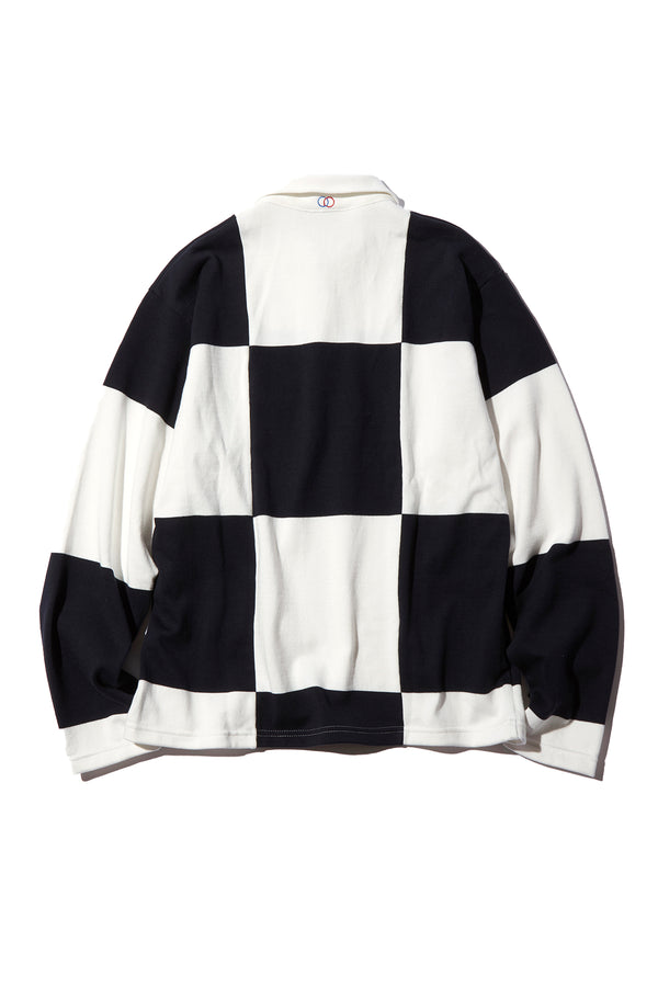 ROWING BLAZERS - CHECKERED RUGBY SHIRT