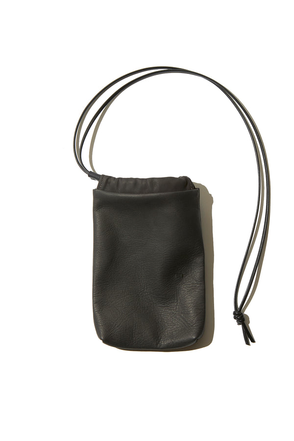 NL, NEI, Leather Drawstring mini Bag,