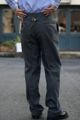 HERITAGE STOCK PROGRAM - PEPPIN MERINO TROPICAL PIPED STEM TROUSERS