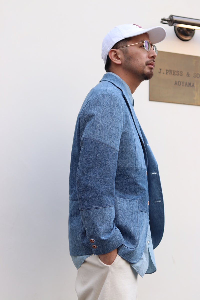 KURO × J.PRESS ORIGINALS - DENIM AUTHENTIC 3B BLAZER (PATCHWORK)