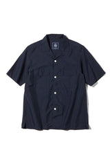 T/C OPEN COLLAR SHIRT SOLID