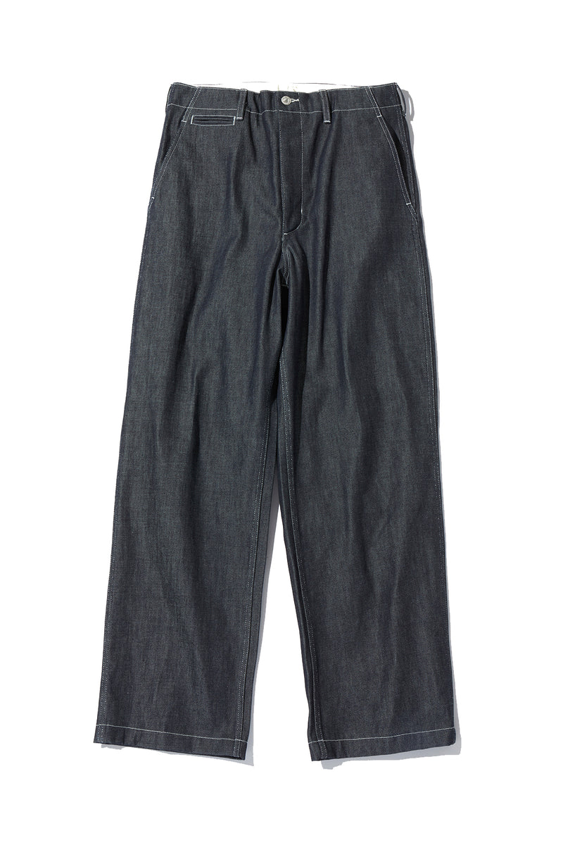 Denim Military Trousers